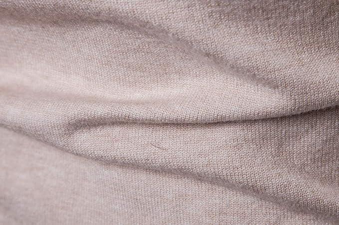 CELANDA Jersey con Cuello Cisne Hombre Su/éter de Punto Corte Ajustado Mangas Largas B/ásico Moda Suave Pul/óver de Color Liso