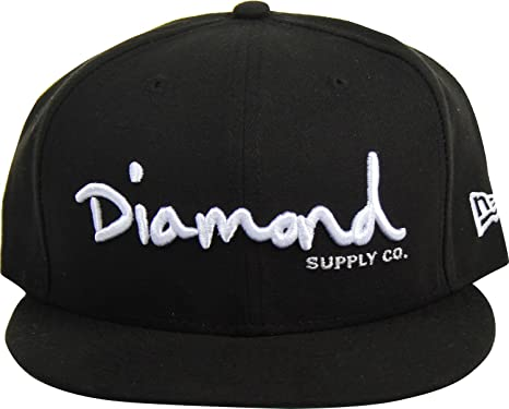 969da73c0b6 Image Unavailable. Image not available for. Color  Diamond Supply Co. - OG  Script Fitted Hat ...