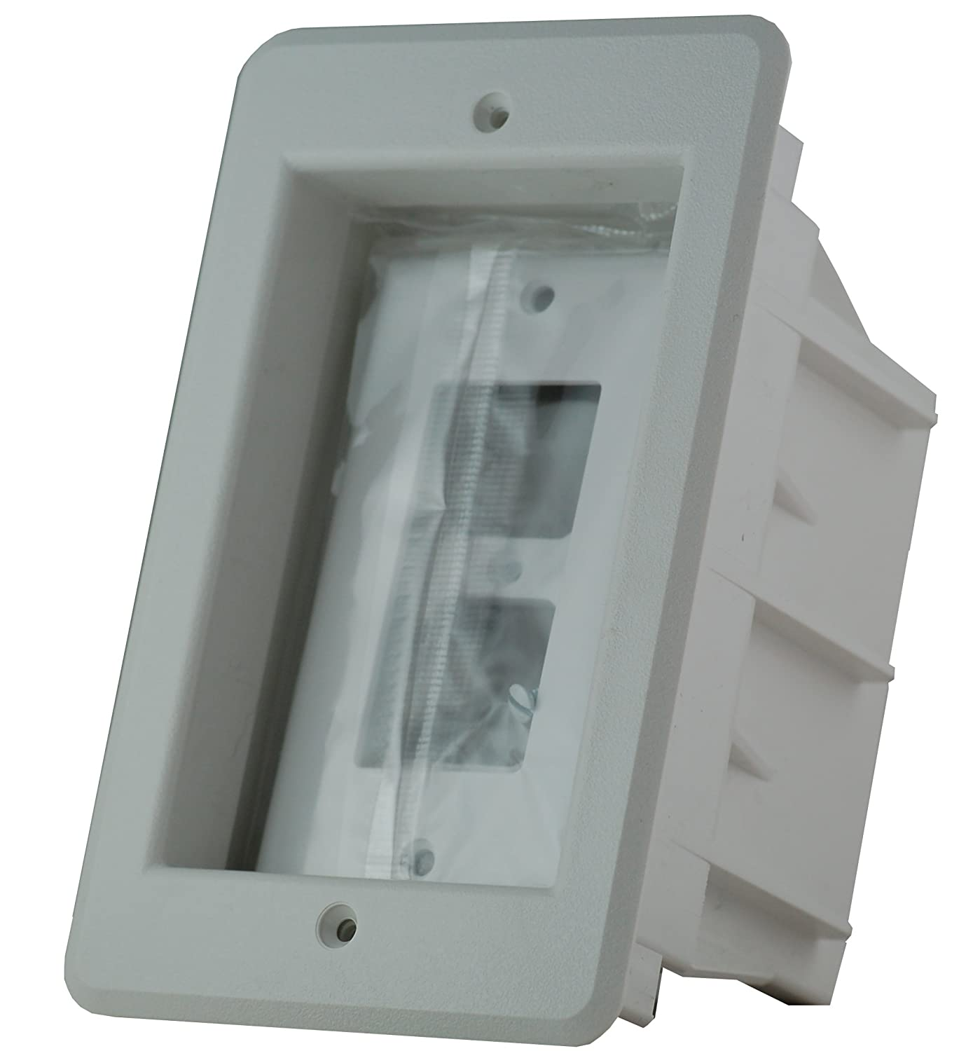 Arlington Dvfr1w 1 Recessed Electrical Outlet Mounting Box Single Usb Charging Whitetr7740wk The Home Depot Gang Drywall Receptacle