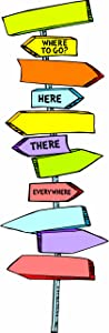 Eureka Back to SchoolDr. Seuss Directional Signs Bulletin Board and Classroom Decorations,8pc, 6.5'' W x 26'' H