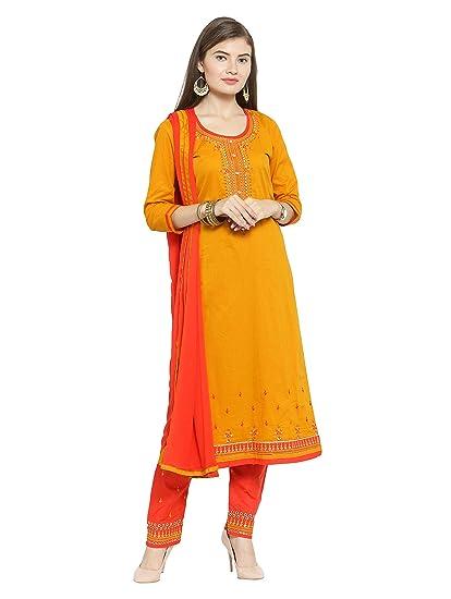 6fe5fe1677b5 Kvsfab Women s Cotton Blend Embroidery Unstitched Dress Material  (KVSSK133 SNS
