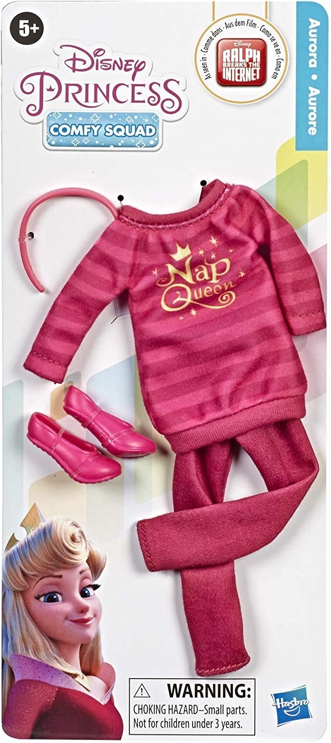 Clothes for Disney Fashion Doll Inspired by Ralph Breaks The Internet Movie Disney Princess Comfy Squad Fashion Pack for Aurora Doll
