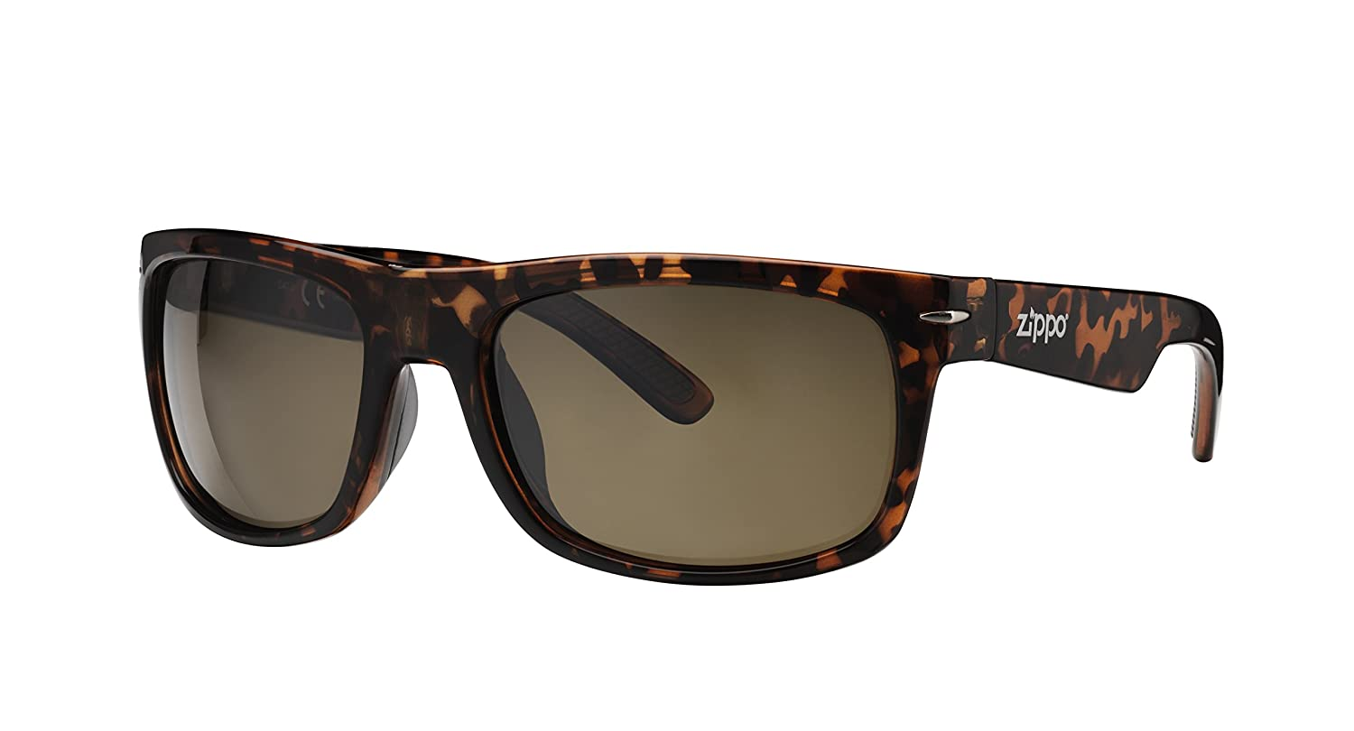 1c46859e99 Zippo Polarized Brown Flash Mirror Lens Gafas de Sol, Unisex, Demi, Medium:  Amazon.es: Deportes y aire libre