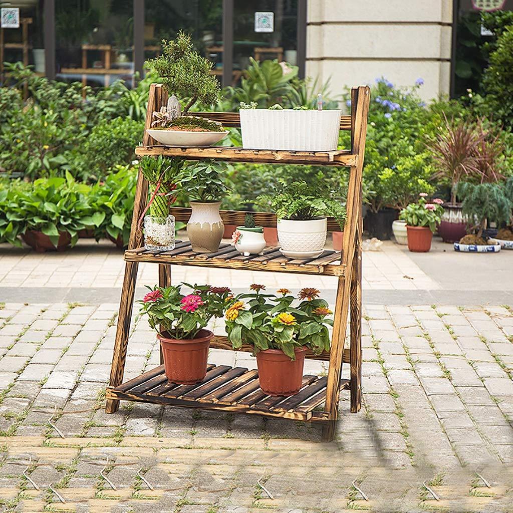 Puesto de plantas Soporte de flores de madera maciza trapezoidal ...