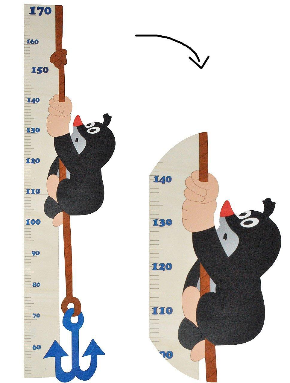 Unbekannt der Kleine Maulwurf - Meßlatte aus Holz - Messlatte / Kinderzimmer Holzmeßlatte - für Kinder Kind Tier Tiere Kinderzimmerdeko - Wachstumsleiste - Wachsen Kinder-Land