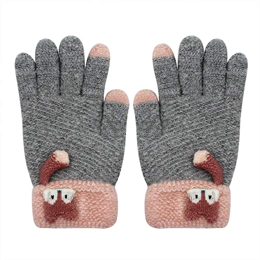 Back To Search Resultsapparel Accessories Bright Winter Warm Children Kids Mitten Gloves Knitted Fabric Double Thickened All Cover Fingers Kids Gloves For Boys And Girls