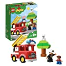 LEGO 10901 DUPLO Town Fire Truck with Light and Sound and Firefighter Figure, Toy for Kids Age 2-5