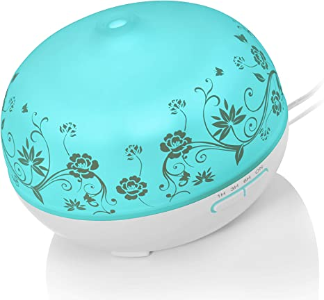 Crane Personal Ultrasonic Cool Mist Humidifier and Aroma Therapy Diffuser, Optional Color Changing Nightlight Included, for Home, Hotels, and Office,