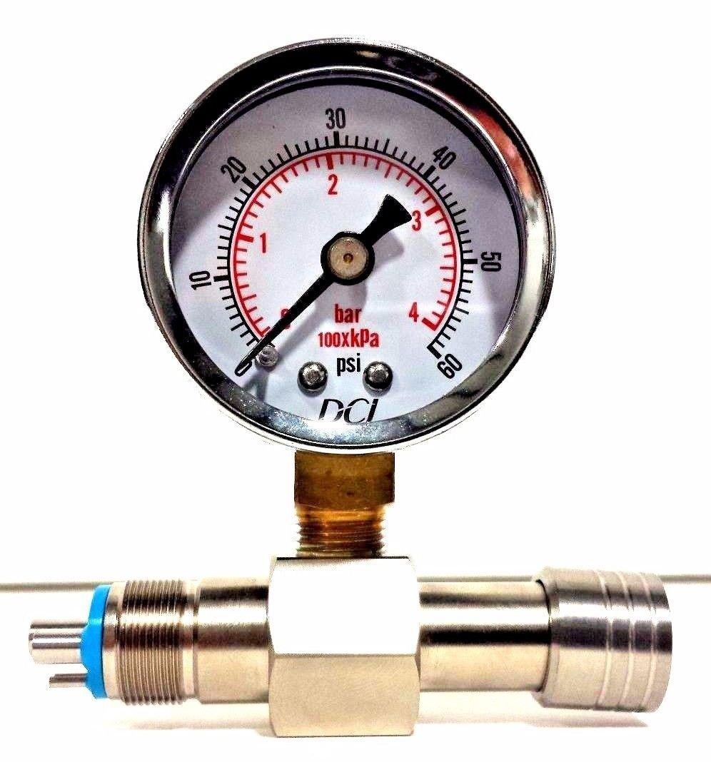 DCI International 7267 Handpiece Pressure Gauge (0-100 PSI)