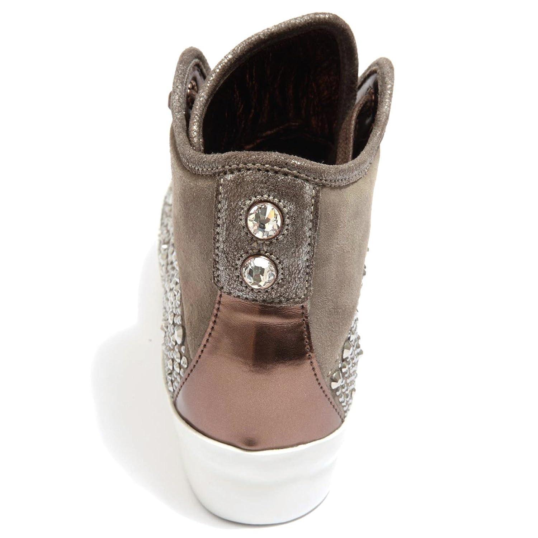 ALEXANDER SMITH 87602 Sneaker Alta London Scarpa Donna Shoes Women Tortora