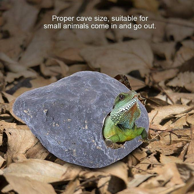 Semme Las Serpientes se esconden, el Reptil se esconde Gecko Cueva Lagarto Huevo Piedra Pequeños Animales para Serpientes Araña Hamster(Grey): Amazon.es: ...