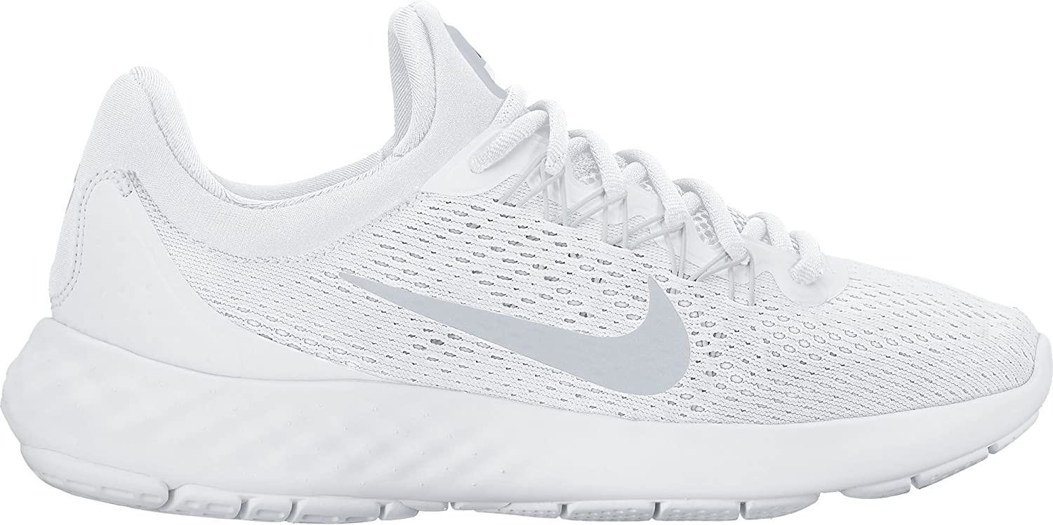 NIKE Womens Lunar Skyelux Round Toe Lace-up Running Shoes B01H5XM50M 6.5 B(M) US|White / Pure Platinum-off White