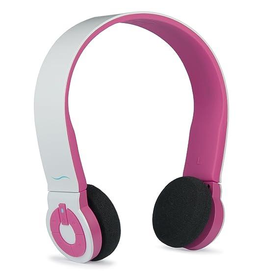 4 opinioni per Hi-Fun Hi-Edo Cuffie Wireless, Bluetooth, Microfono Integrato, Bianco/Rosa