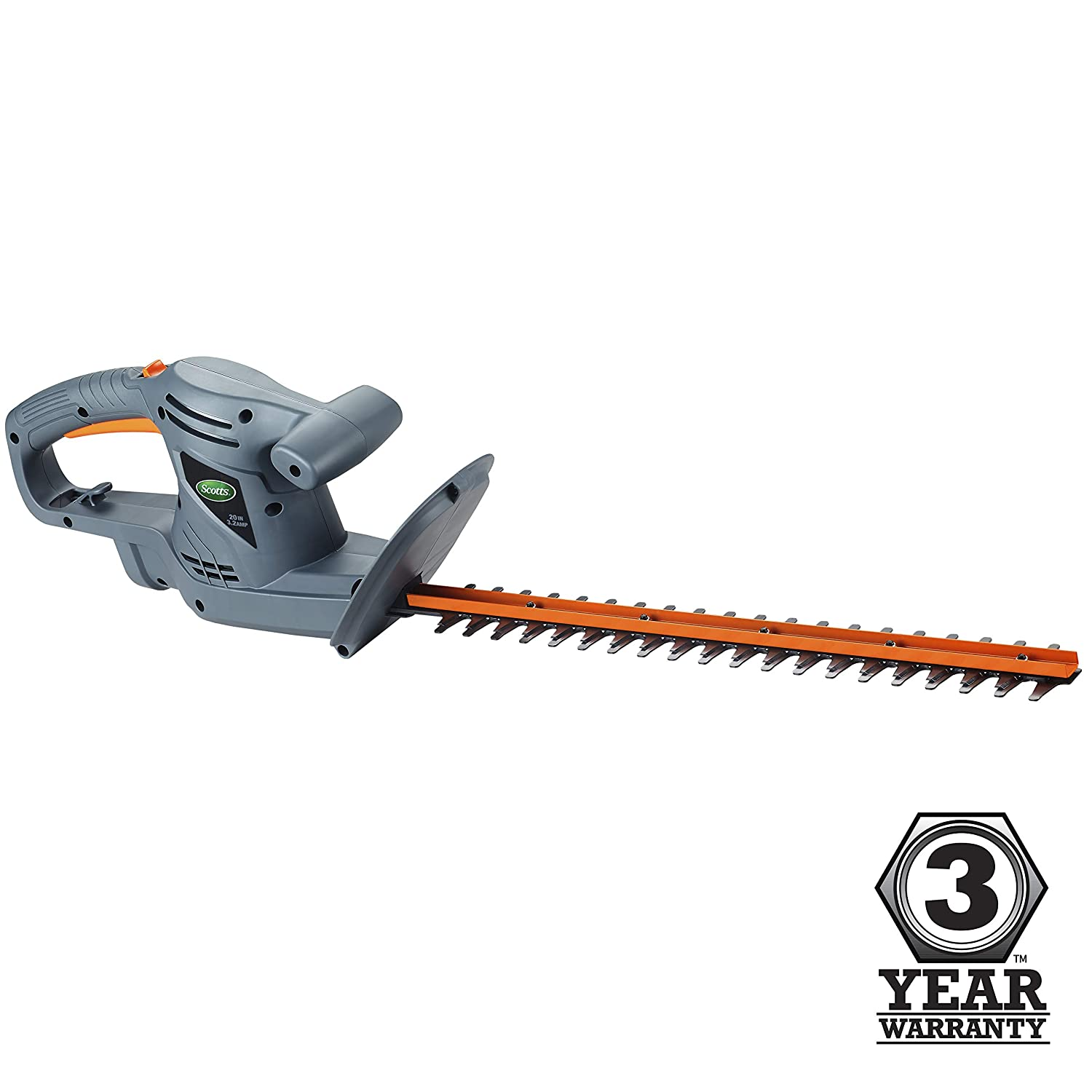 Scotts Outdoor Power Tools HT10020S 20-Inch 3.2-Amp Corded Electric Hedge Trimmer, Grey
