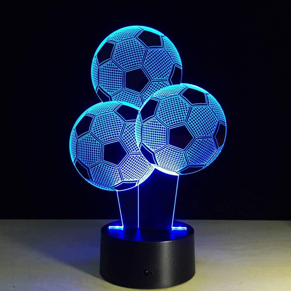 3D luz de la noche LED árbol del balón de fútbol 3D lámpara 7 ...