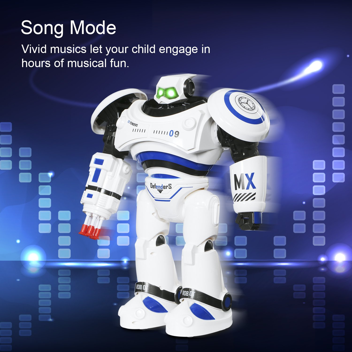 SGILE Remote Control Robot, RC Programmable Educational Robot for Kids Birthday Gift Present, Interactive Walking Singing Dancing Smart Intelligent Robotics for Kids Boy, White by SGILE (Image #5)