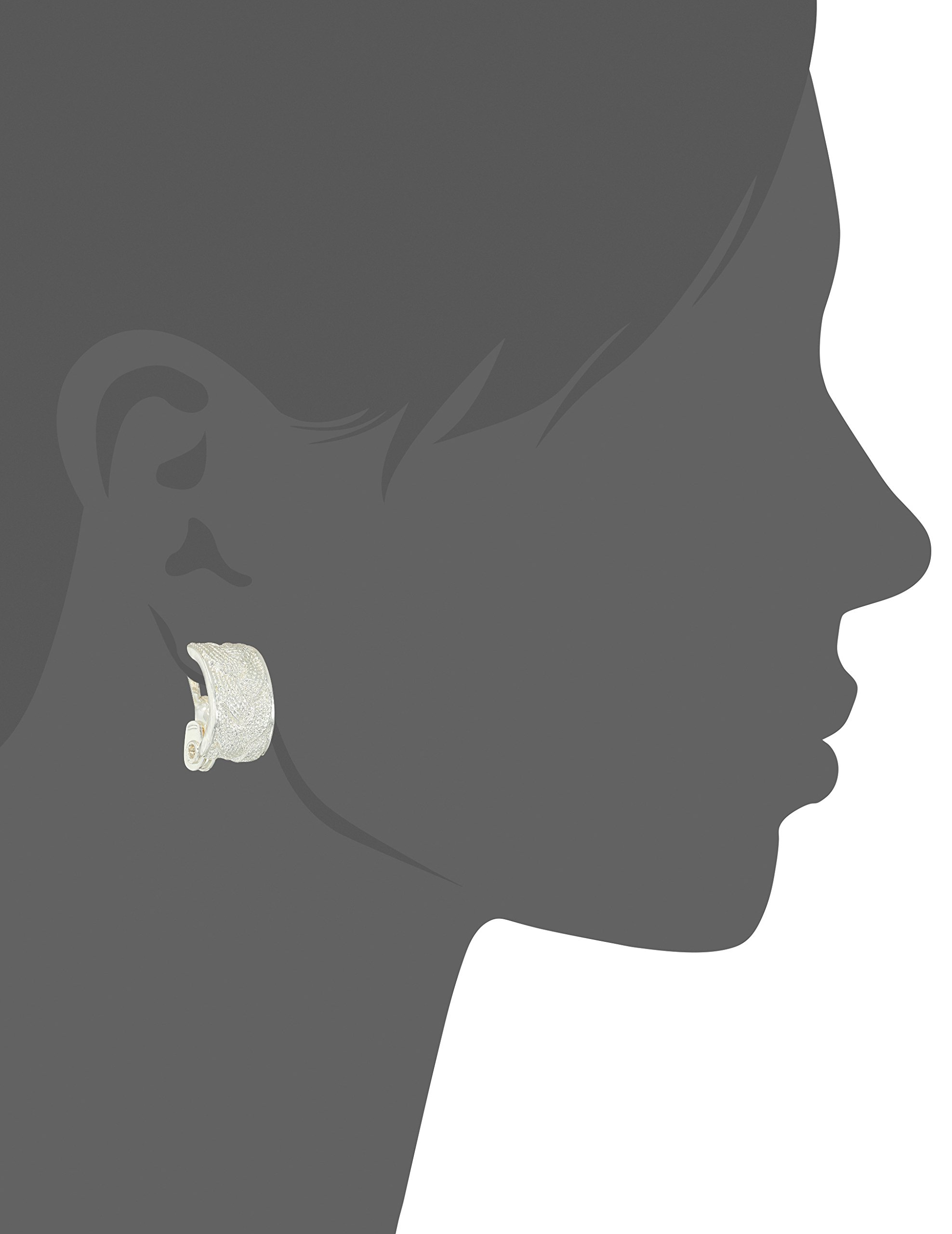 Napier Silver Tone Hoop Clip On Earrings by Napier (Image #2)