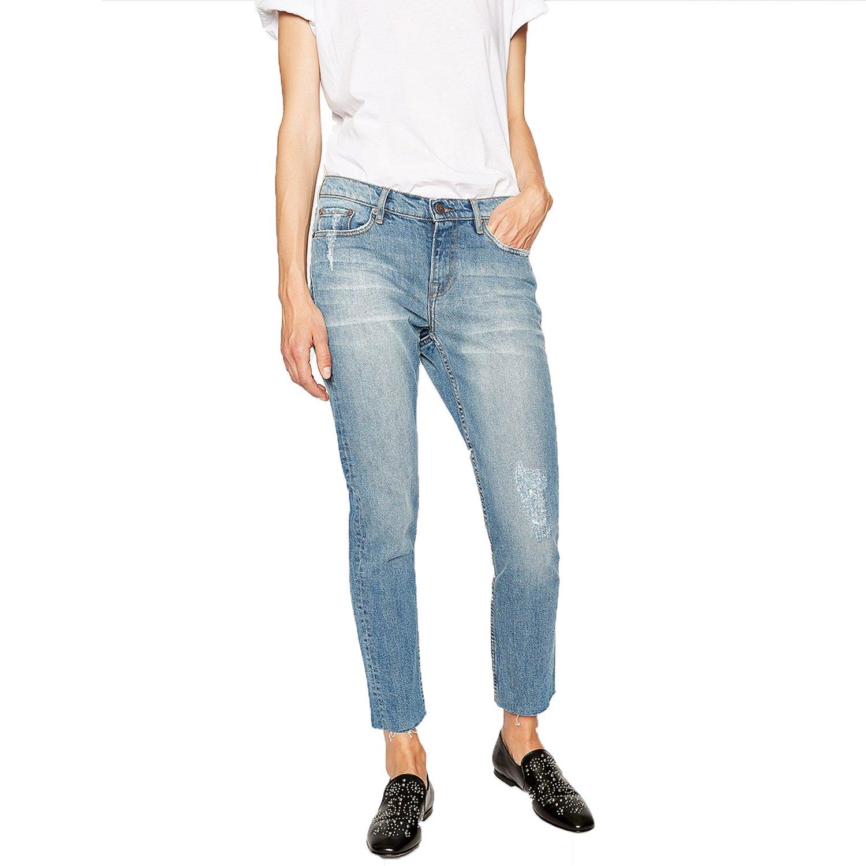 9450bbabe8 Amazon.com  The Kooples Womens Willy Faded Blue Boyfriend Jeans Blue ...
