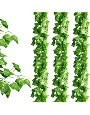 JPSOR 24 Pack (79 inch Each) Fake Ivy Artificial Ivy Leaves Greenery Garlands Hanging for Wedding Party Garden Wall Decoration