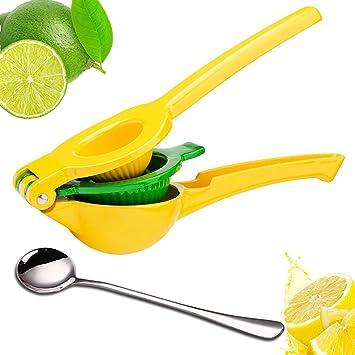 Exprimidor de limones limón exprimidor - upgraded aleación de aluminio Manual Lime squeezer-citrus prensa exprimidor por akesky: Amazon.es: Hogar