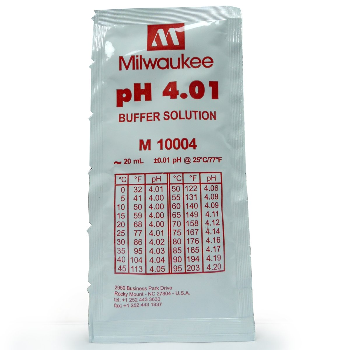 Líquido de calibraje - pH - 4.01. Bolsa 20 ml. Milwaukee