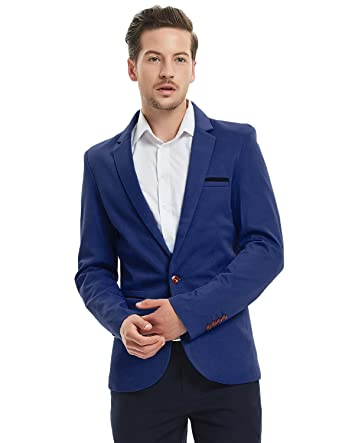 700c23ed7 Earlish Men's Sports Jacket Lightweight One Button Slim Fit Solid Casual  Blazer
