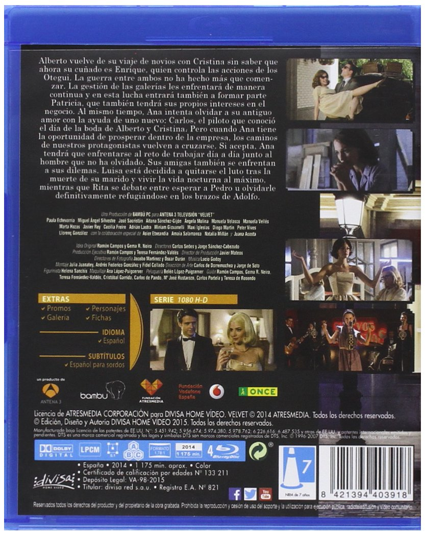 Velvet (2ª temporada) [Blu-ray]: Amazon.es: Paula Echevarría ...