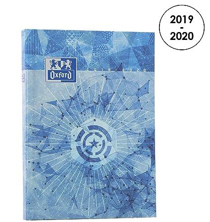 Oxford - Agenda Escolar Diaria 2016 – 2017, 1 día por página, 352 páginas, 15 x 21 cm, color azul 15 x 21