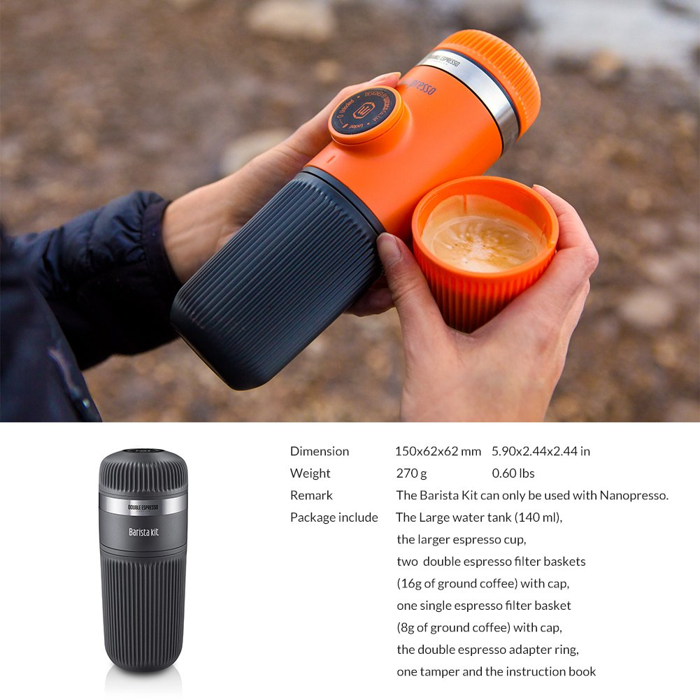 Wacaco Nanopresso Barista Kit, accesorio para la máquina de café espresso portátil Nanopresso. Doble Espresso, Lungo: Amazon.es: Hogar