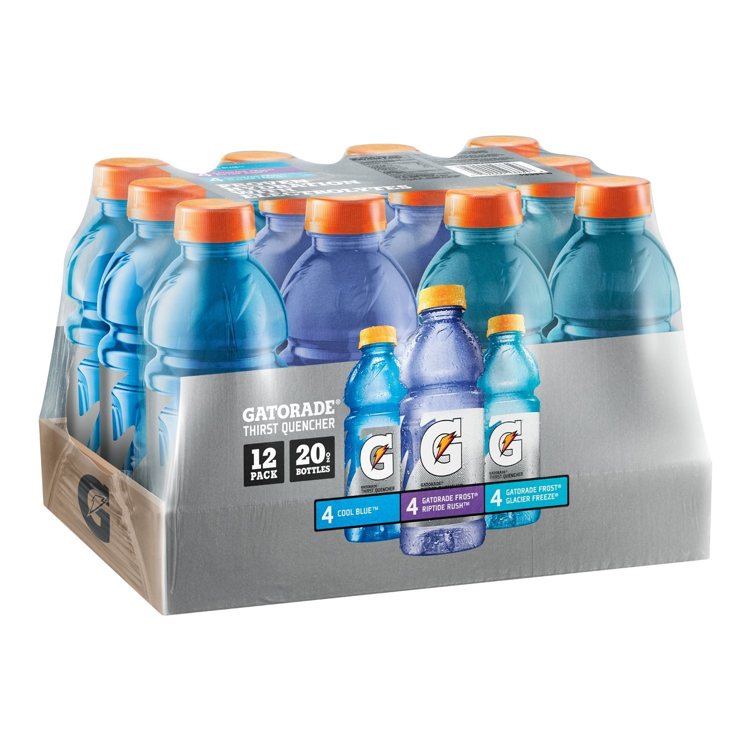Gatorade Frost Thirst Quencher Variety Pack, 20 Ounce Bottles (Pack of 12)