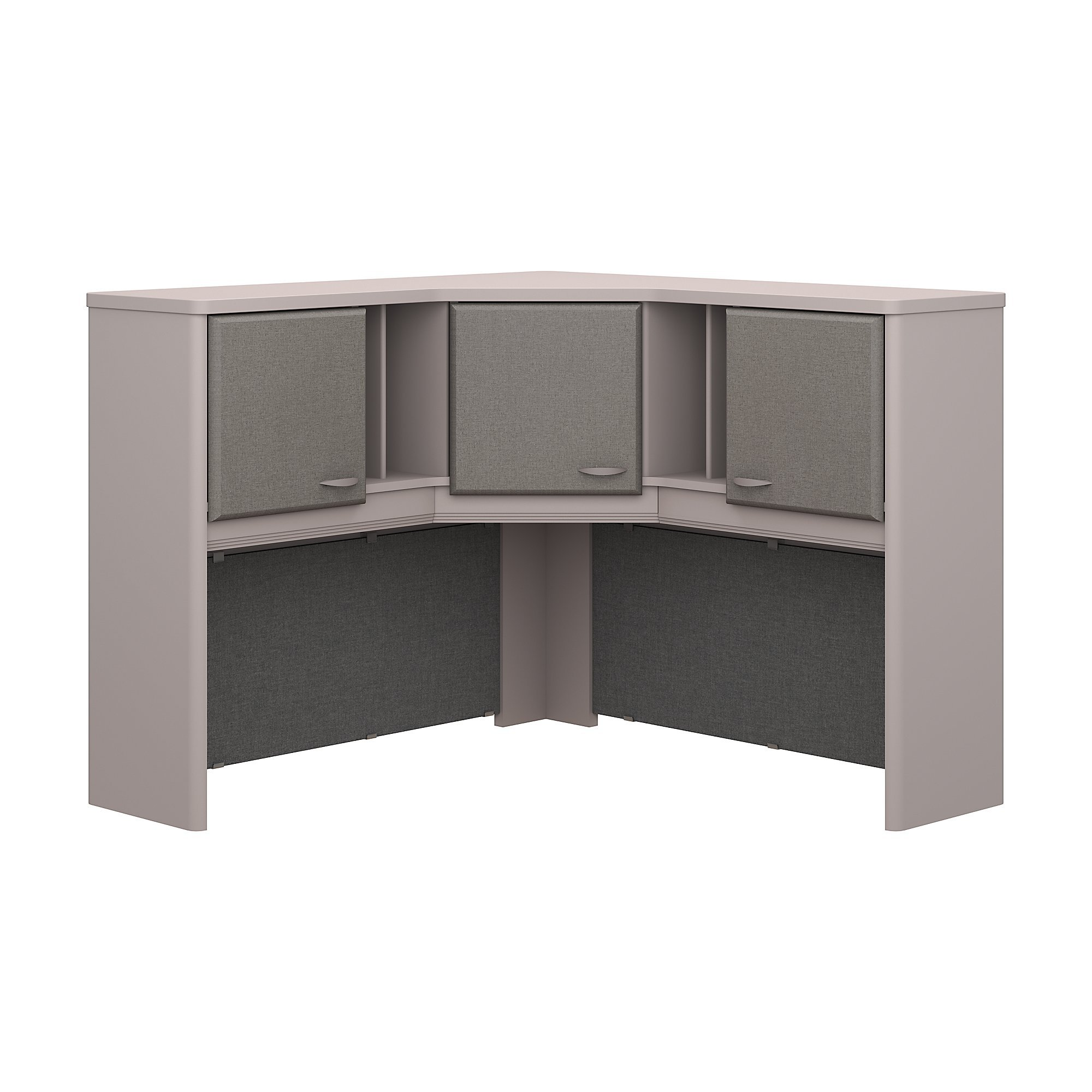 Bush Business Furniture Series A 48W Corner Hutch - Pewter/Pewter 47W X 47D X 37H Ergonomichome American Made TAA Compliant