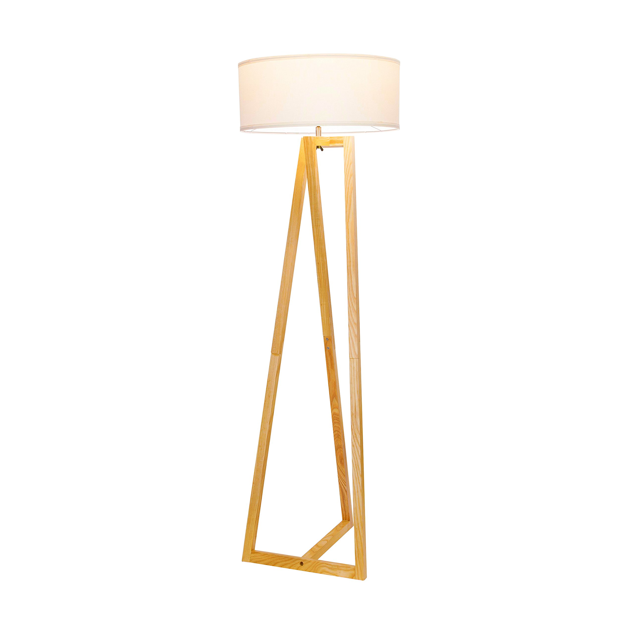 Brightech''Z'' Wood Tripod LED Floor Lamp - Mid Century Modern Light for Living Rooms & Family Rooms - Tall Standing Lighting for Contemporary Bedrooms & Offices by Brightech (Image #5)