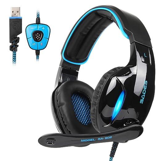 20 opinioni per Cuffie da Gaming Sades SA902 Cuffie da Gioco Audio Dolby Surround 7.1 USB e