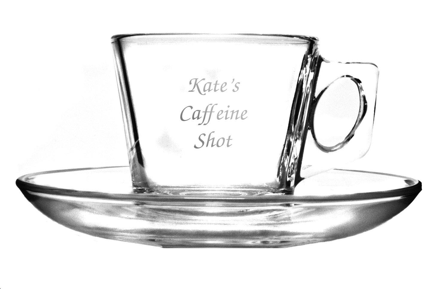 Glass espresso coffee cups uk - Espresso Americano Glass Coffee Mugs Personalised 200ml Glass Cappuccino Latte Americano Espresso Coffee Cup And