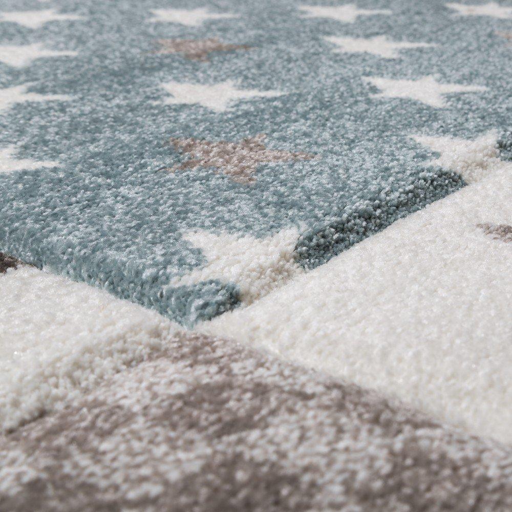 Paco Home Kinderteppich Kinderzimmer Konturenschnitt Stern Muster Muster Muster Beige Creme Pastellfarben, Grösse 120x170 cm B01N812LGI Teppiche 8ab99b