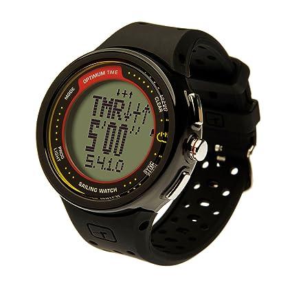 0a0258dfc476 Amazon.com   Optimum Time Series 12 Sailing Watch - OS12R - Rechargable -  Black   Sports   Outdoors