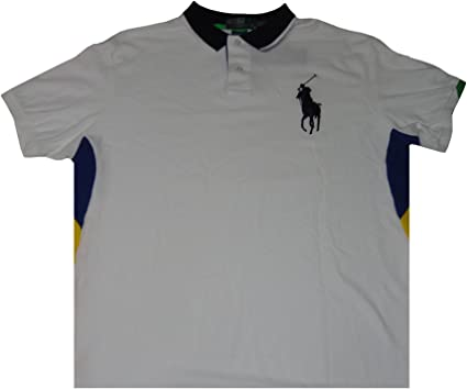Ralph Lauren Polo Men's Short Sleeve Shirt White with Big Navy ...