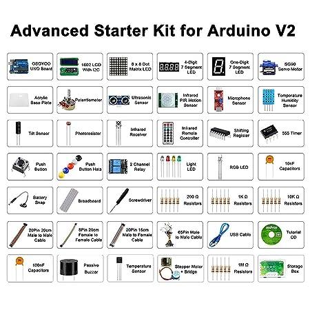 KOOKYE Completar Principiante Aprendizaje Kit para Arduino con UNO R3 Card y CD Tutorials: Amazon.es: Juguetes y juegos