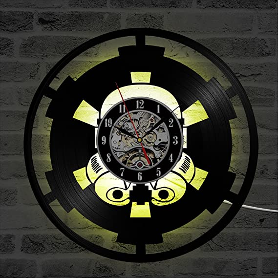 Star Wars LED Reloj de Pared Control Remoto Silencio ...