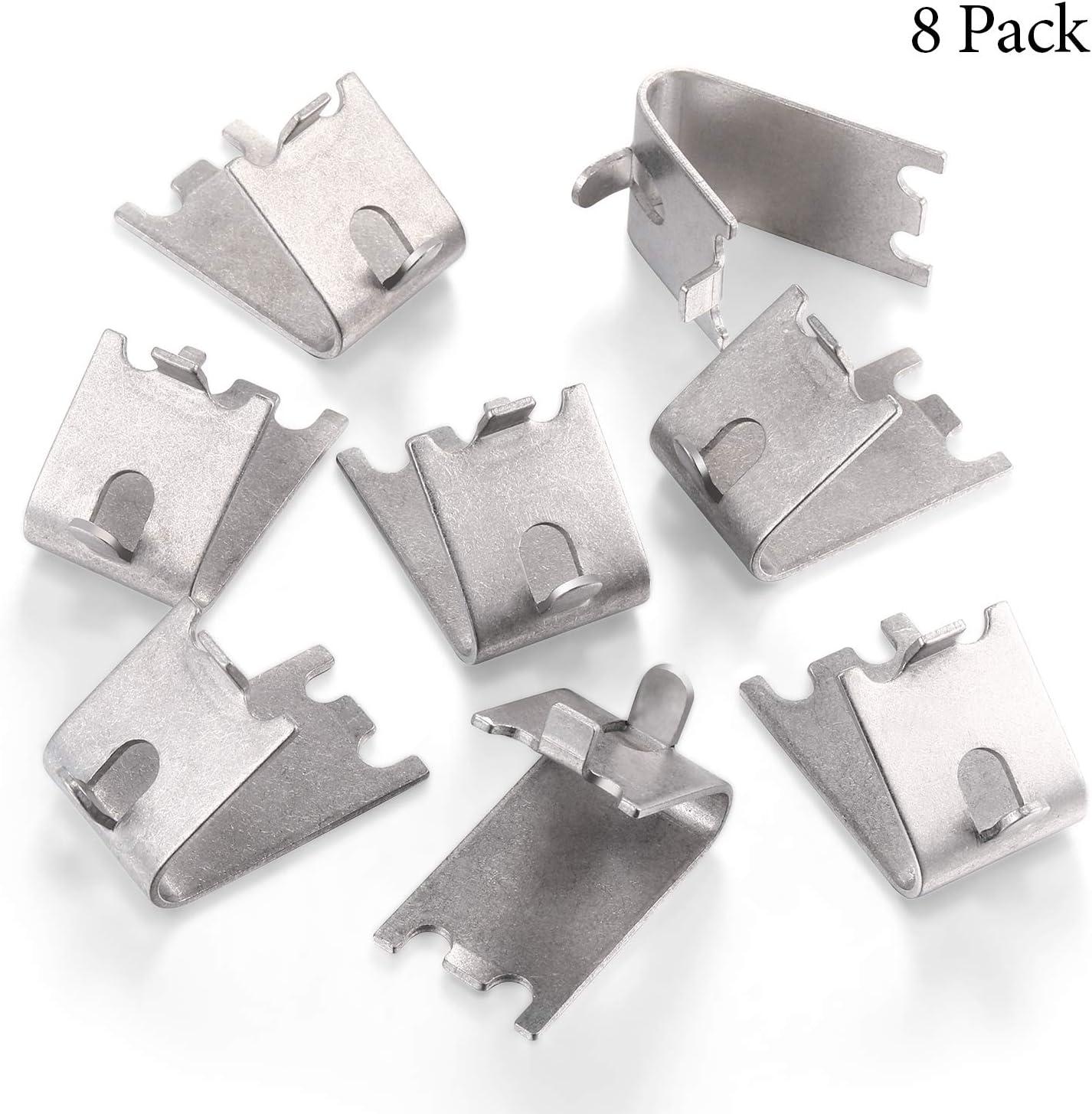 FENGWANGLI 920158 Freezer Shelf Clip Freezer Cooler Shelf Support Shelf Square Clips Stainless Steel Shelf Clip for Refrigerator 10 Pcs