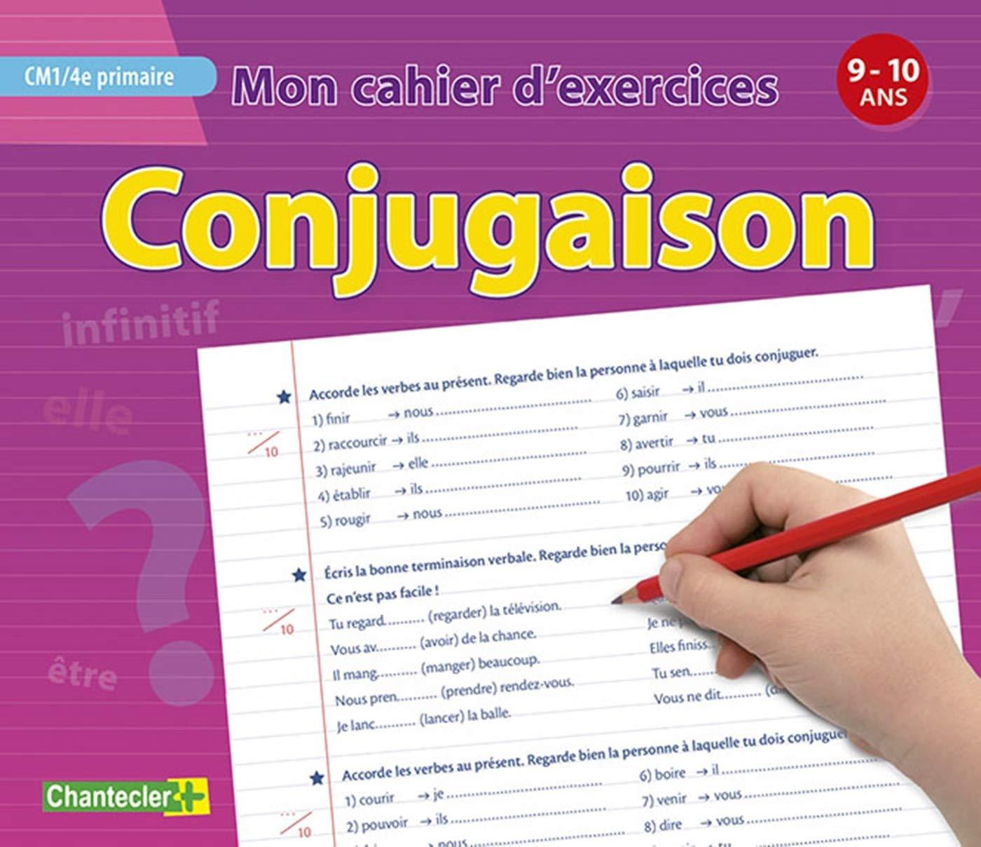 Mon Cahier D Exercices Conjugaison 9 10 A Cm1 4e Primaire Amazon Fr Collectif Livres