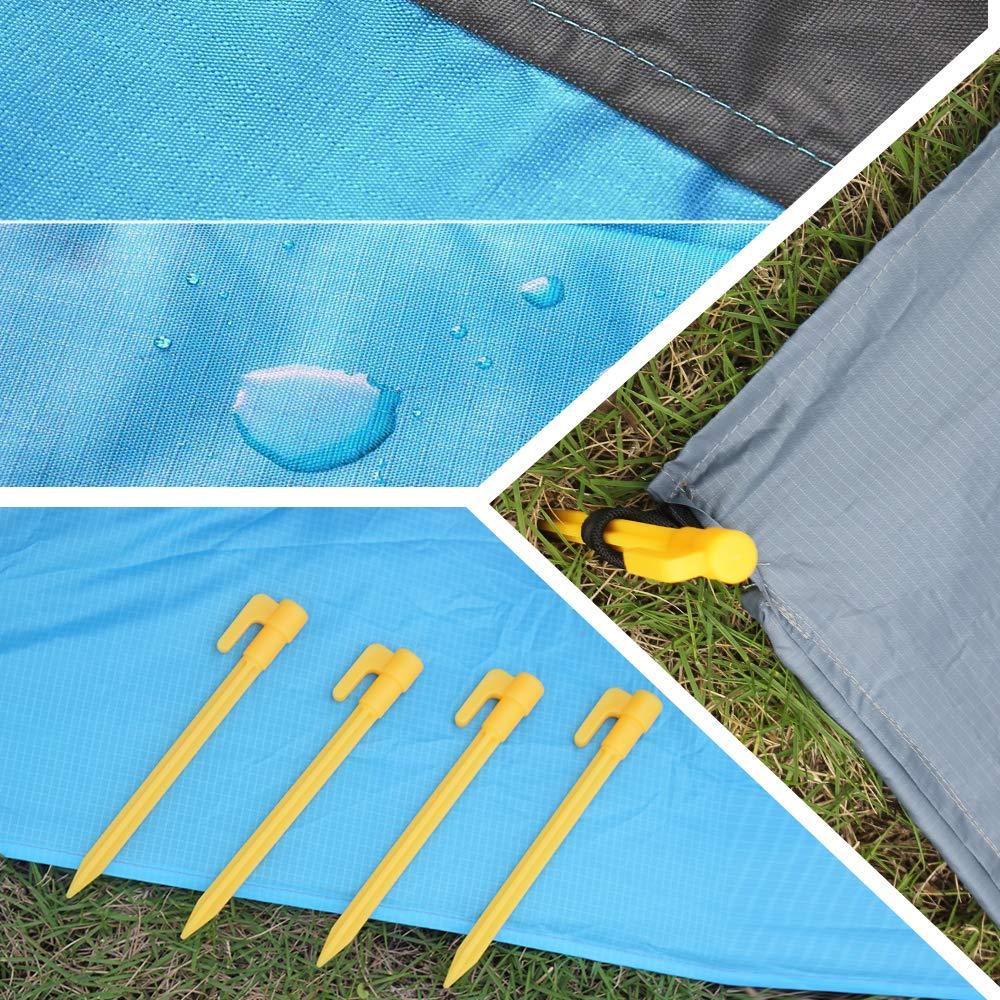 Picnic Eastshining Alfombras de Playa Manta Picnic Impermeable 210 * 200cm con 4 Clavo de Tierra para la Playa Acampa y Otra Actividad al Aire Libre