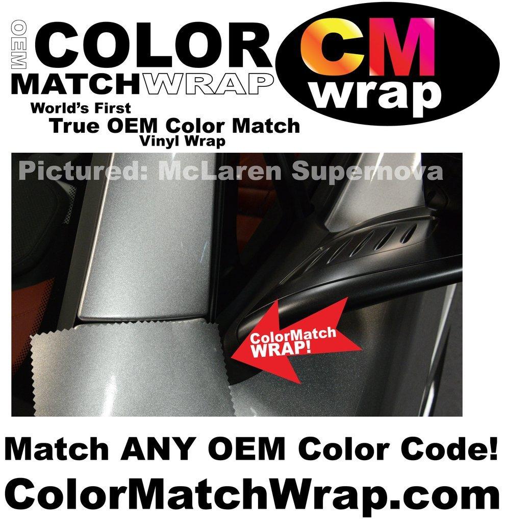 カラーマッチラップ、OEMペイントコードカラーマッチングビニールラップ 5' X 9' cmw-001-59 B0751G215S 5' X 9'|Enter Paint Code in Order Notes Enter Paint Code in Order Notes 5' X 9'