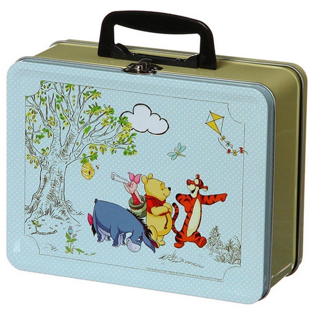 DISNEY Winnie lOurson - Valisette pour goûter - Métallique - 22cm - Jaune et bleu: Amazon.es: Juguetes y juegos