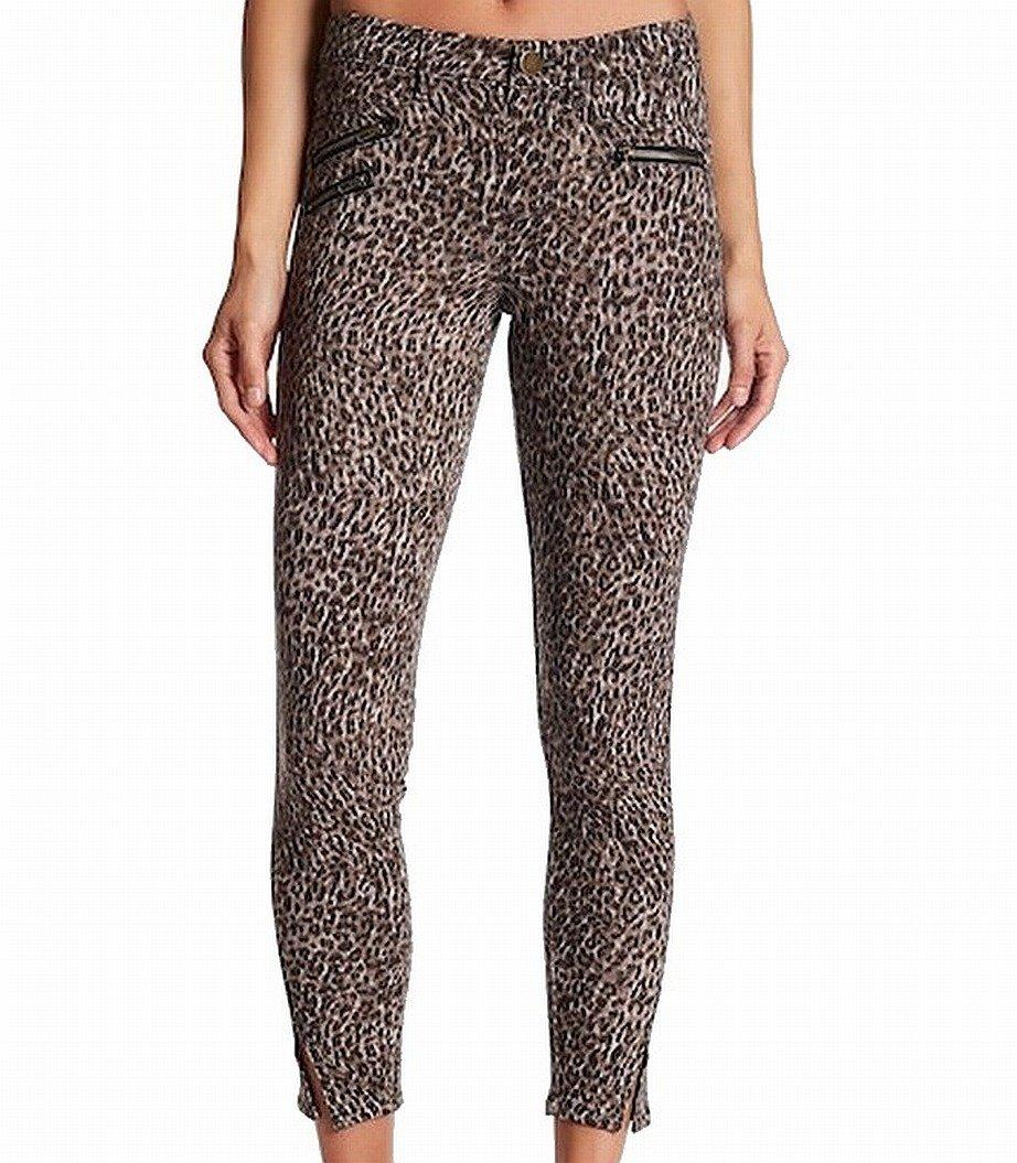 Jolt 1X27 Junior Cheetah Printed Zipped Pants Stretch Brown 1