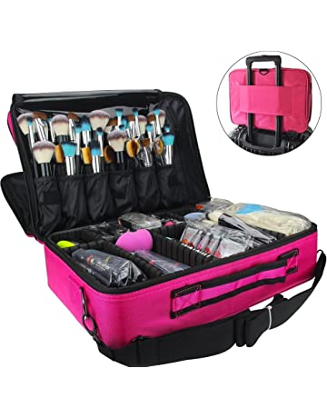MONSTINA Cosmetic Bags 3 Layer Cosmetic Organizer Makeup Case Beauty Artist  Storage Brush Box with Shoulder 20282999b72ab
