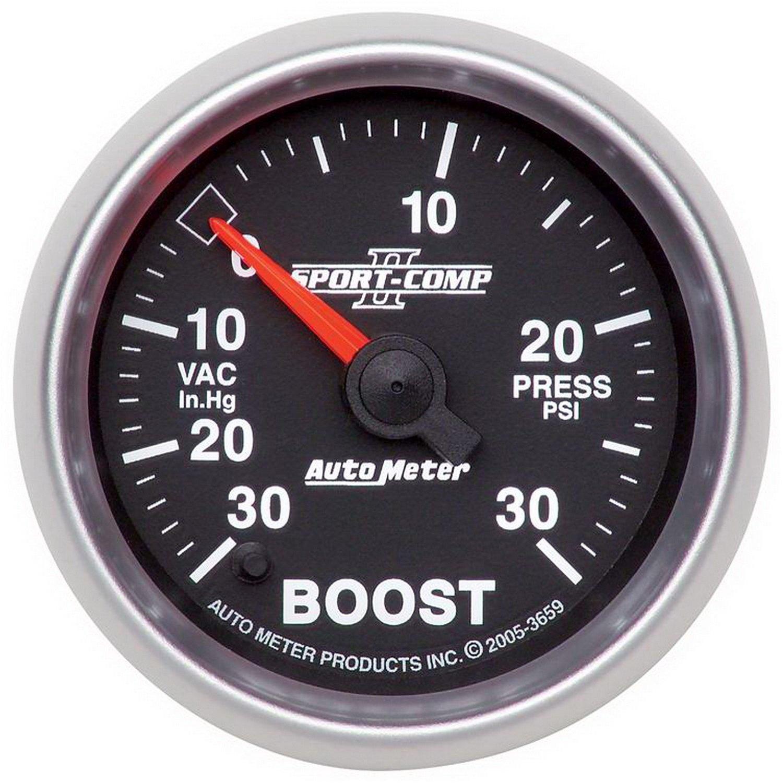 Auto Meter 3659 2-1/16' 30 in. Hg/30 PSI Full Sweep Electric Vacuum/Boost Gauge
