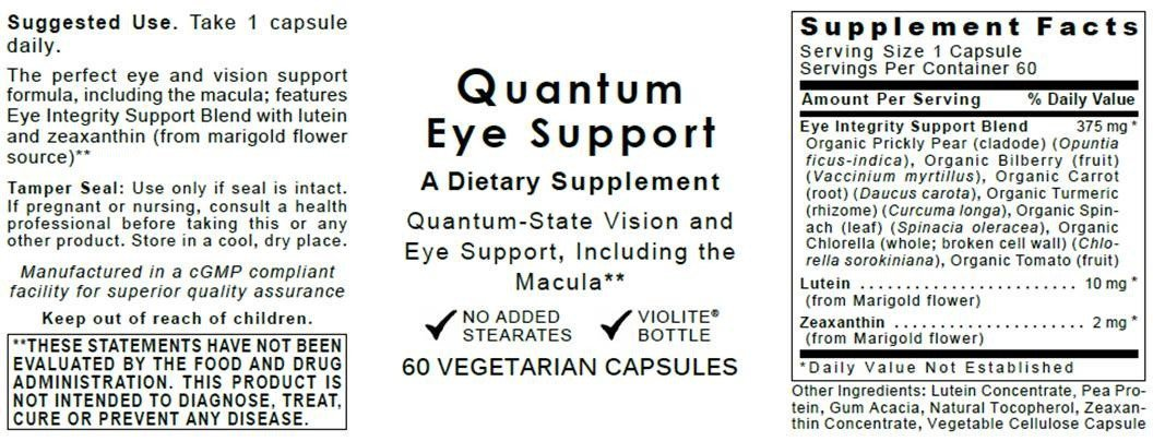 Quantum Eye Support, 180 caps 3 Bottles - Premier Research-Ocuven Vision and Eye Support, Including The Macula. Contains Lutein and Zeaxanthin.