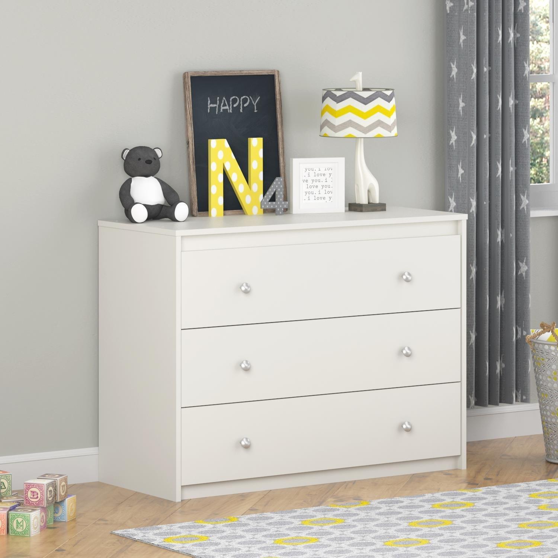 Amazon.com: Ameriwood Home Elements 3 Drawer Dresser, White: Kitchen U0026  Dining