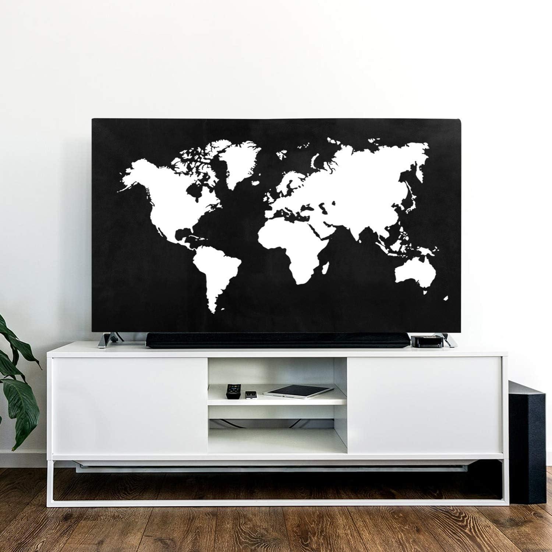 kwmobile 40 TV H/ülle TV Bildschirm Staubschutzh/ülle Dont Touch My TV Wei/ß Schwarz Fernseher Bildschirmschutz Abdeckung